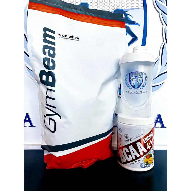 Gymbeam True Whey 2,5kg + Swedish Supplements BCAA 4:1:1