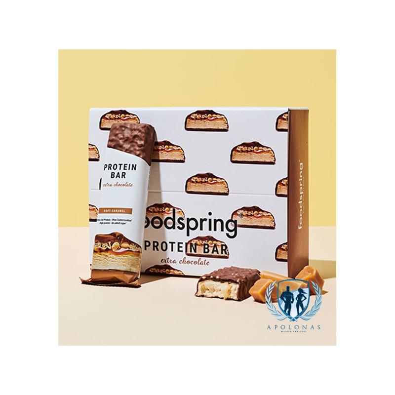 FoodSpring baltyminis batonėlis su glaistu 65g