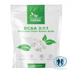 Raw Powders BCAA 2:1:1 200tab