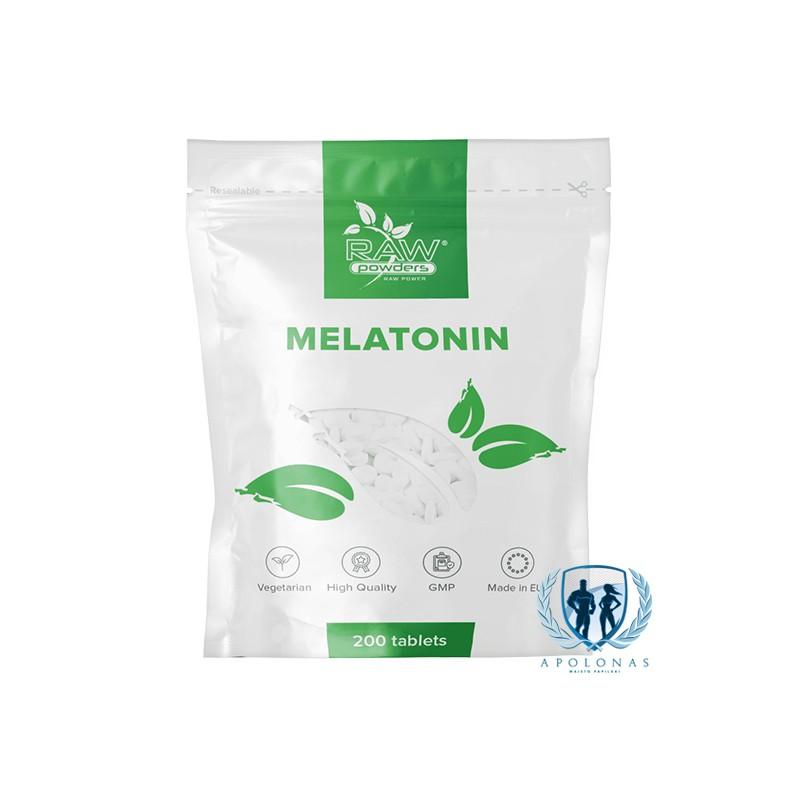 Raw Powders Melatonin 200 tab.