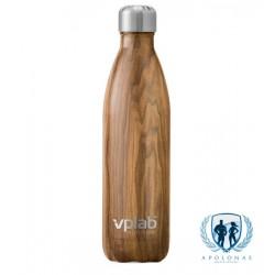 VpLab metalinė vandens gertuvė 500ml Wood