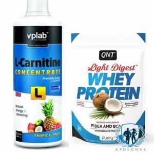 VPLab L-Carnitine Concentrate 1L + QNT LIGHT DIGEST WHEY PROTEIN 500g