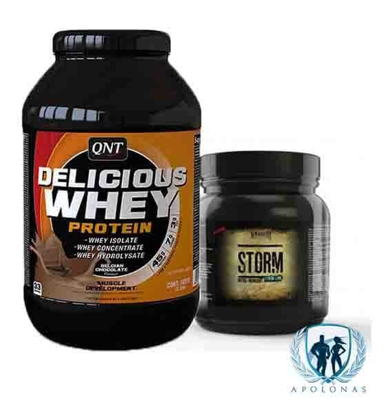 QNT DELICIOUS WHEY + Warrior Storm-min